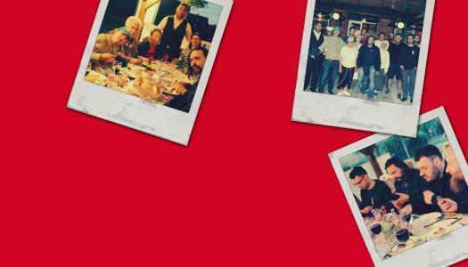 Fotografije iz obiska glasbenikov Let 3 v Romani kafenava